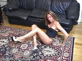 Jerk off teacher exercises by stretching her legs sexily