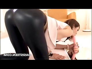 Asian cam girl in yoga tight pants