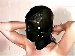 Self bondage Black mask