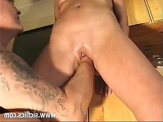 Amateur wife brutally fisted in her destroyed vagina