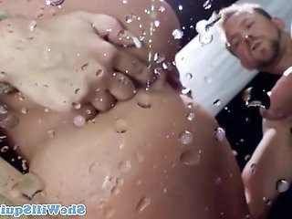 BDSM brunette giving pussy