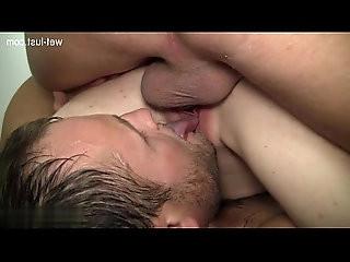 College slut cum kiss