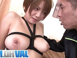 Busty MILF Meguru Kosaka Gets Shaved Pussy Creampied
