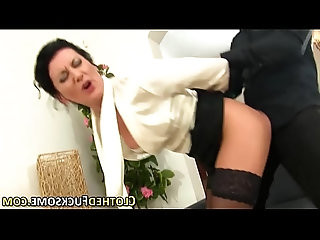 Glamour lady gets facial