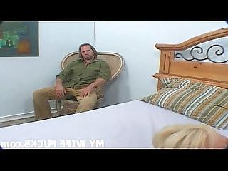 Watch your wife sucking huge cock