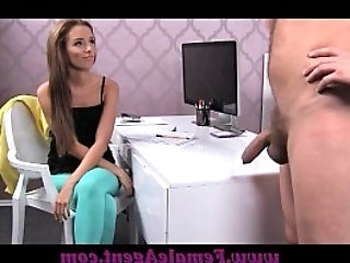 FemaleAgent Big cock delivers creampie present after fuck frenzy