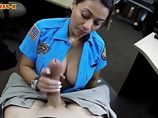 Busty police officer pounded by pawn guy