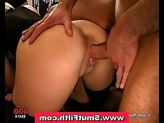 Bukkake cum loving slut fuck and facial