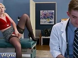 Gorgeous slut patient samantha rone seduce and bang on tape with doctor