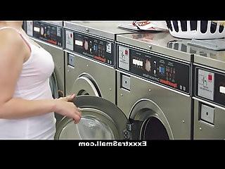 ExxxtraSmall Petite Teen pussy Fucked in Laundromat