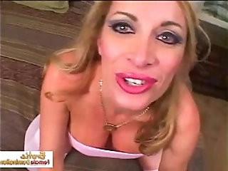 Extremely nasty Lara Ann loves eating cum