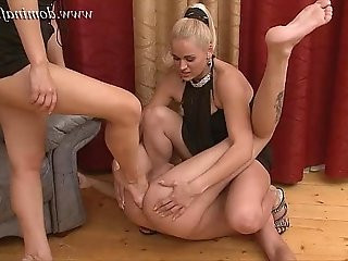 DominaFist Handballed by two