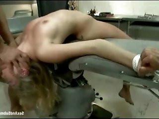 Sexy nurse held hostage and fucked in bondage fantasy