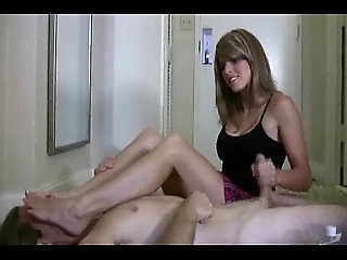 Cory Chase in Hot Footsmother Handjob