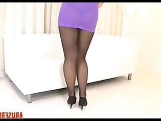 Asian Pantyhose Solo Stockings HD Porn hardcore