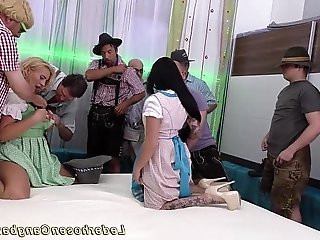 milf and emo teen in wild gangbang orgy