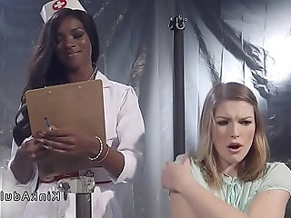 Ebony nurse brunette patient