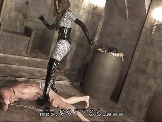 Japanese domina Kira keep kicking slaves body